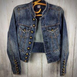 SILVER JEANS Stretch Denim Jacket Mandarin S